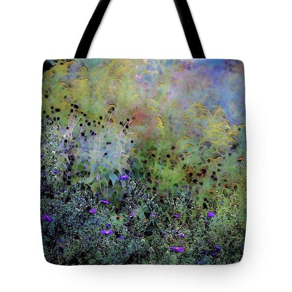 Digital Watercolor Field Of Wildflowers 4064 W_2 Tote Bag
