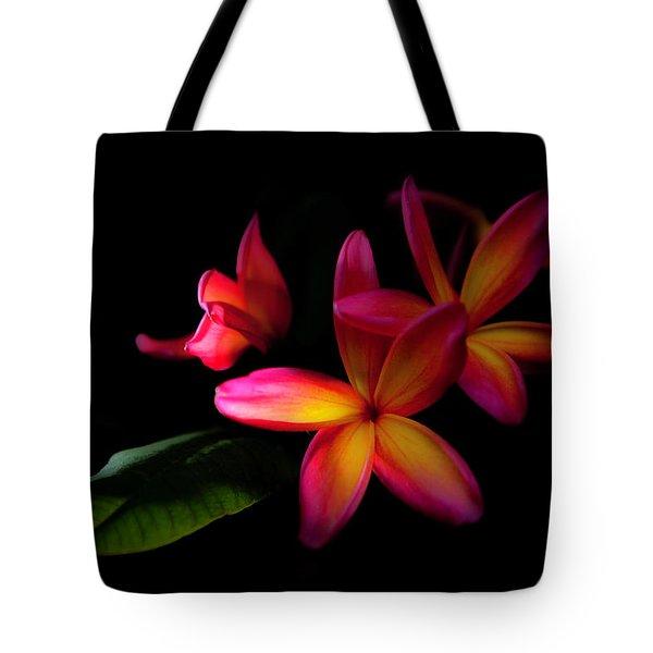 Digitized Sunset Plumerias  Tote Bag