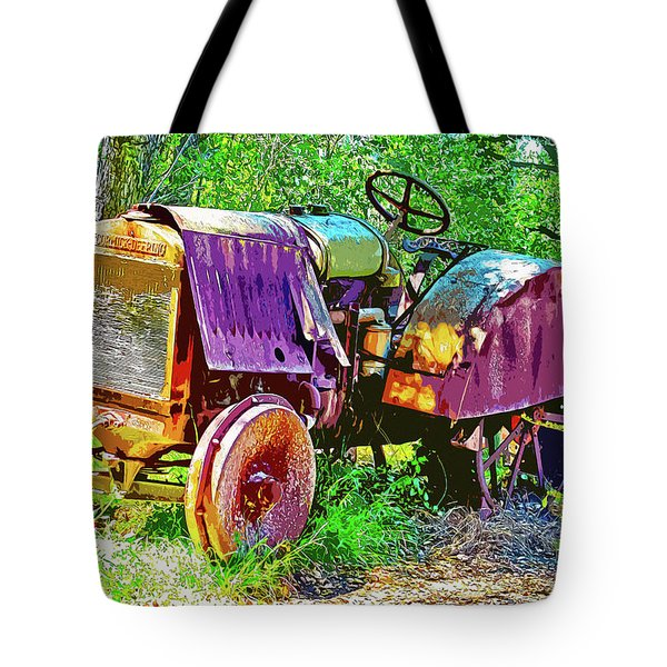 Dilapidated Tractor Tote Bag