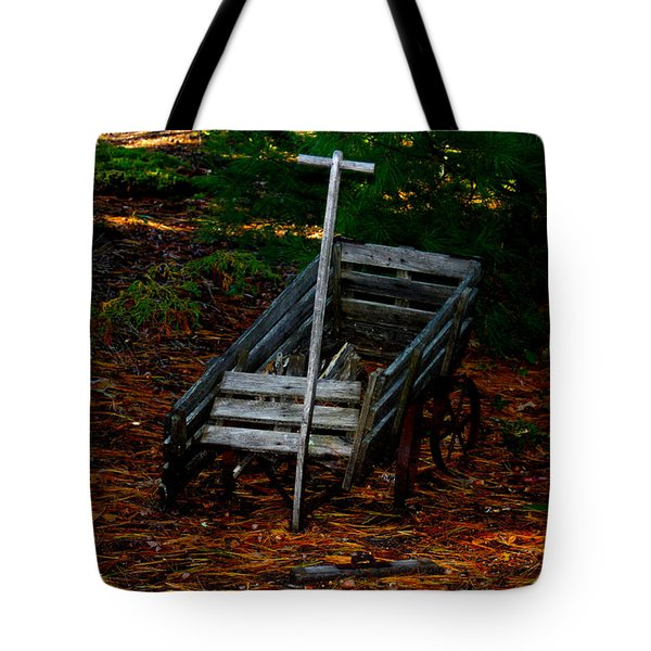 Dilapidated Wagon Tote Bag by Robert Morin