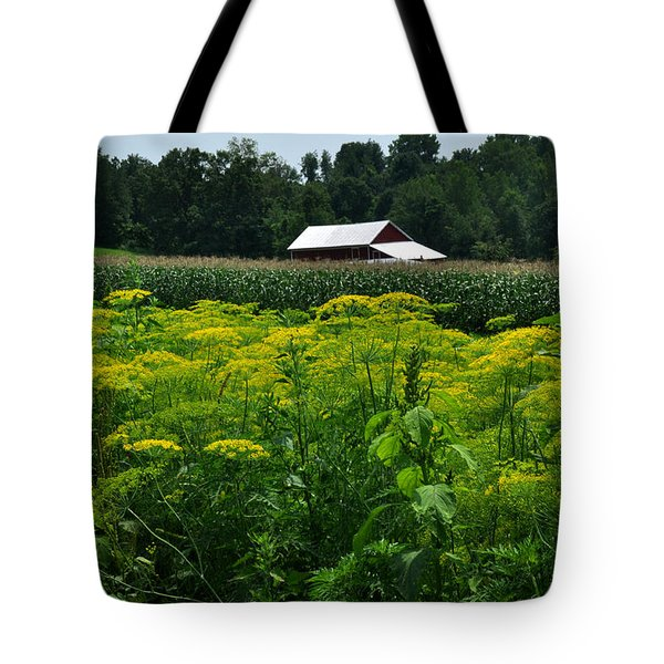 Dill Field Hudson Valley Ny Tote Bag