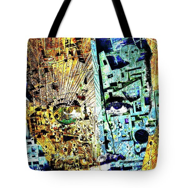 Tote Bag featuring the painting Dillinger by Tony Rubino