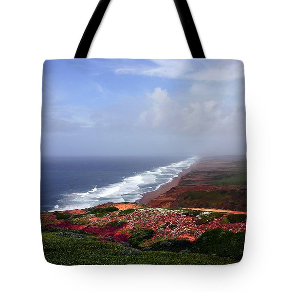 Flowering Beach Point Reyes Lighthouse Bodega Bay Tote Bag