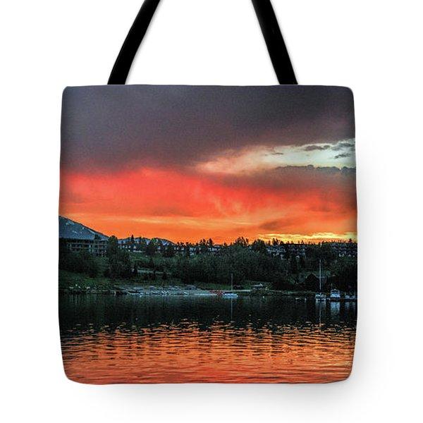 Dillon Marina At Sunset Tote Bag