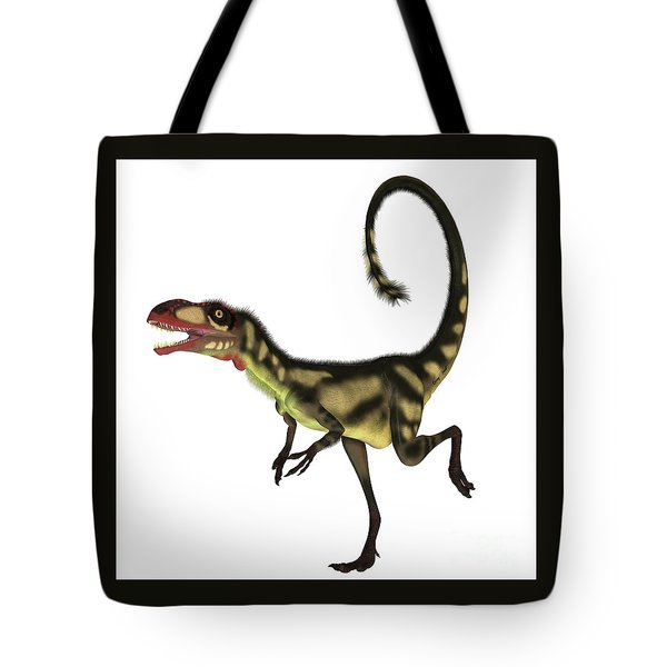 Dilong Dinosaur Profile Tote Bag by Corey Ford