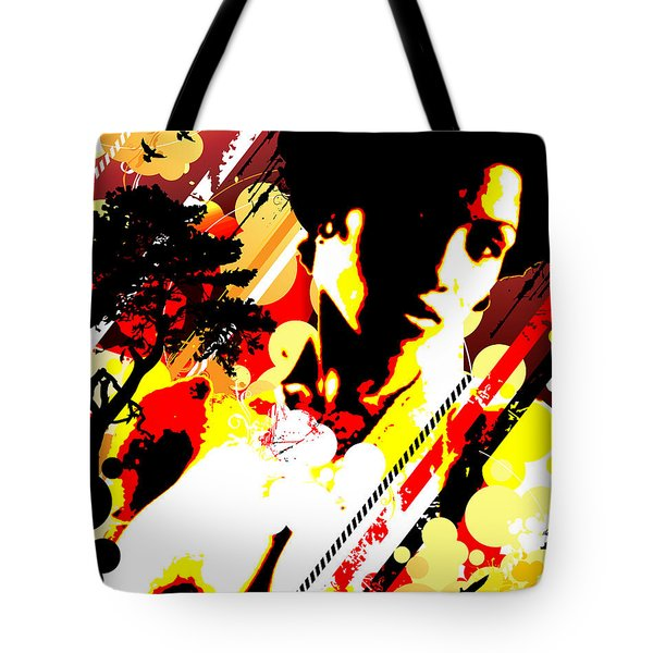 Dim Sunrise Tote Bag by Chris Andruskiewicz