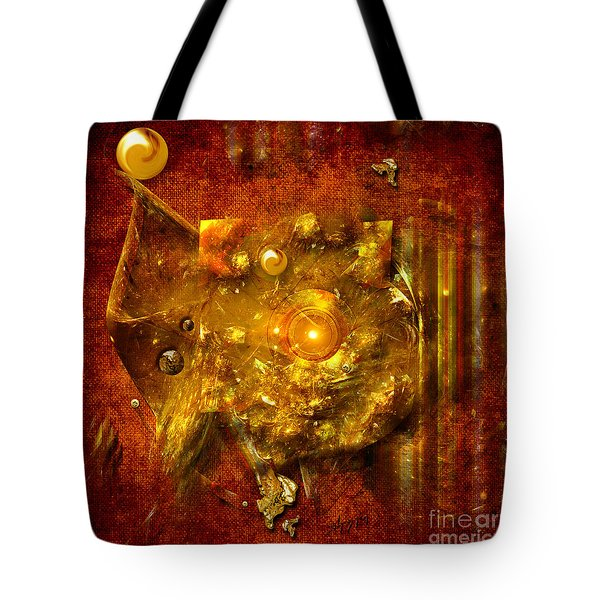 Tote Bag featuring the painting Dimension Hole by Alexa Szlavics
