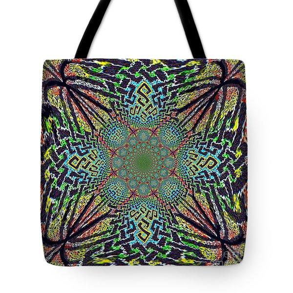 Dimensional Celtic Cross Tote Bag