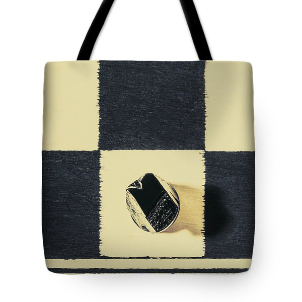 Dimensional Chess Tote Bag