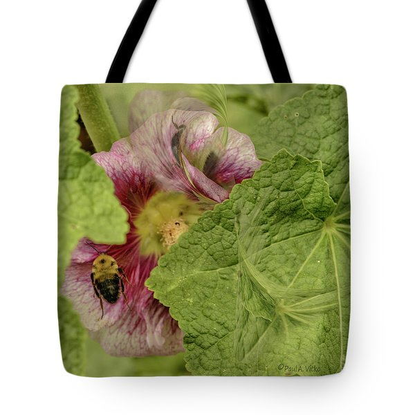 Dimensions Of Bees_flowers Tote Bag