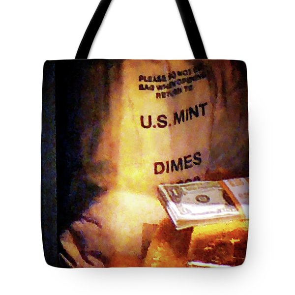 Dimes Dollars And Gold Tote Bag