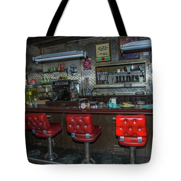 Diner Interior Tote Bag