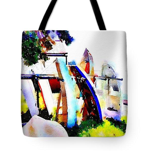 Dinghies At Devonport Tote Bag