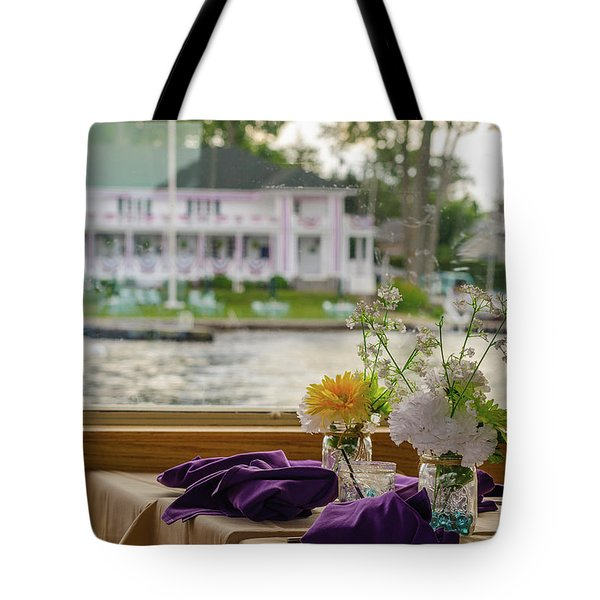 Dining Aboard The Miss Lotta Tote Bag by Maureen E Ritter