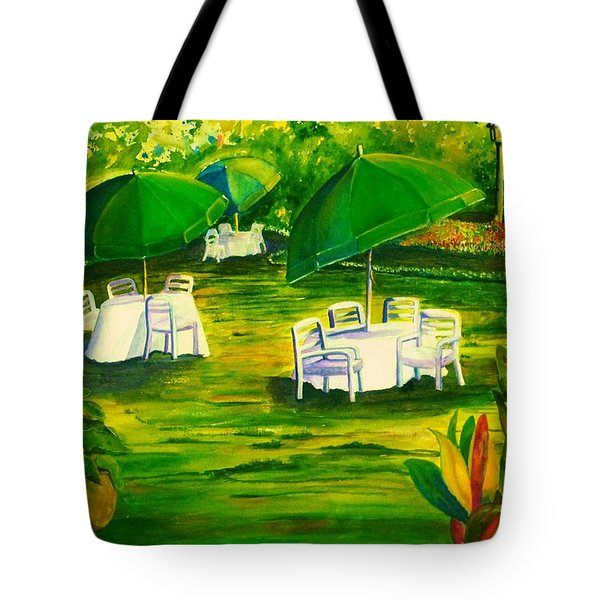 Dining In The Park Tote Bag