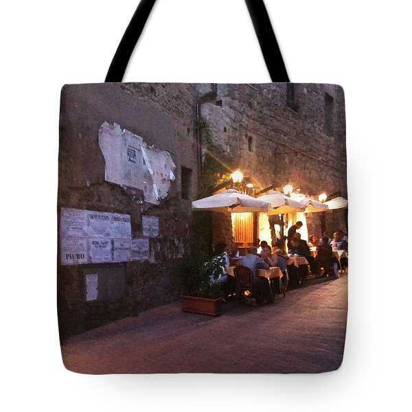 Dining In Tuscany Tote Bag