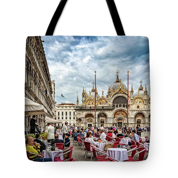 Dining On St. Mark's Square Tote Bag