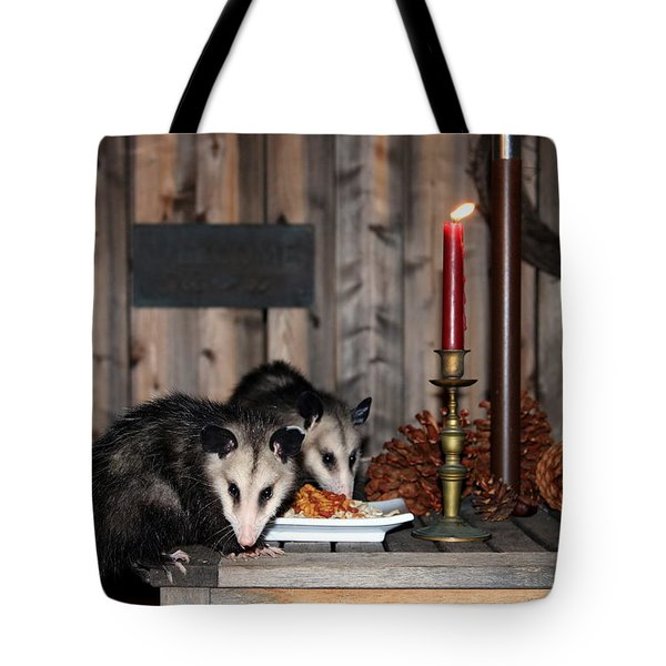 Dining Possums I Tote Bag