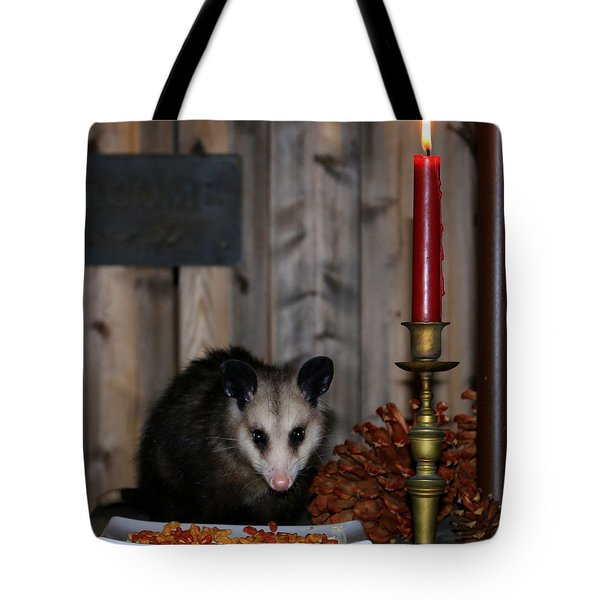 Dining Possums II Tote Bag