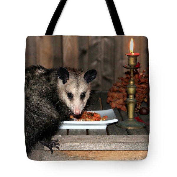 Dining Possums Iv Tote Bag