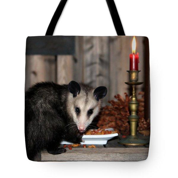 Dining Possums V Tote Bag