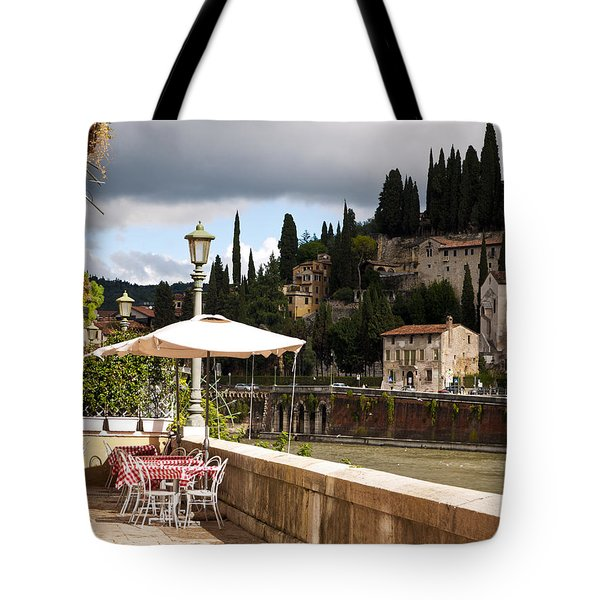 Dining With A View Tote Bag by Rae Tucker