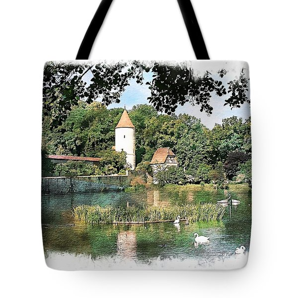 Dinkelsbuhl - Rothenburg Pond Tote Bag