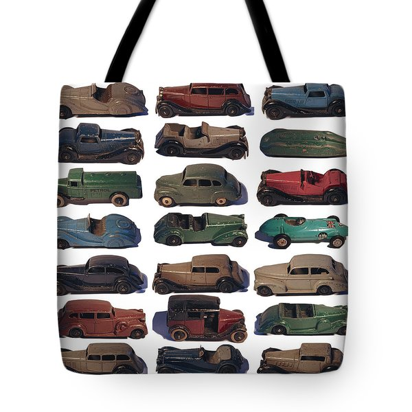 Tote Bag featuring the photograph Dinky Car Park by John Colley