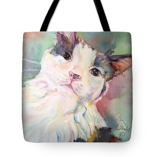 Tote Bag featuring the painting Dinky by Christy Freeman