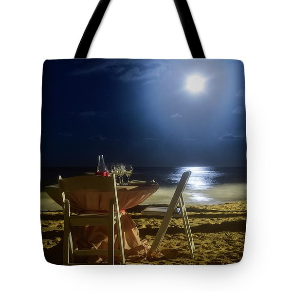 Dinner For Two In The Moonlight Tote Bag