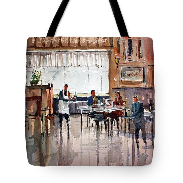 Dinner For Two Tote Bag by Ryan Radke