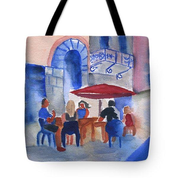 Dinner In Old San Juan Tote Bag by Frank Bright