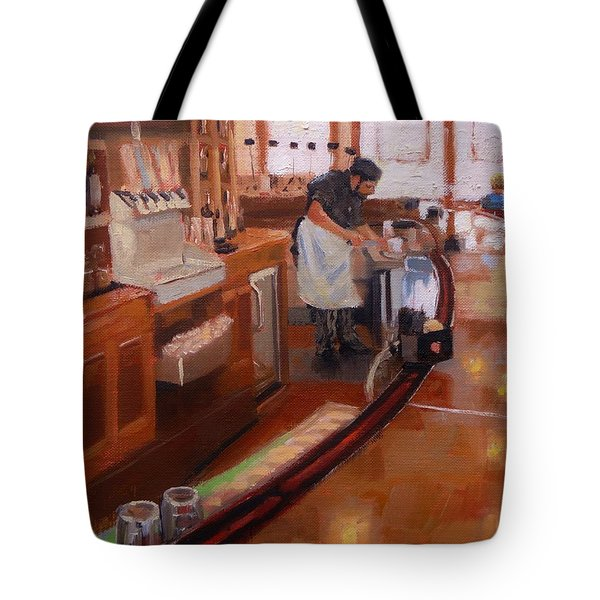 Tote Bag featuring the painting Dinner On The Cape by Laura Lee Zanghetti
