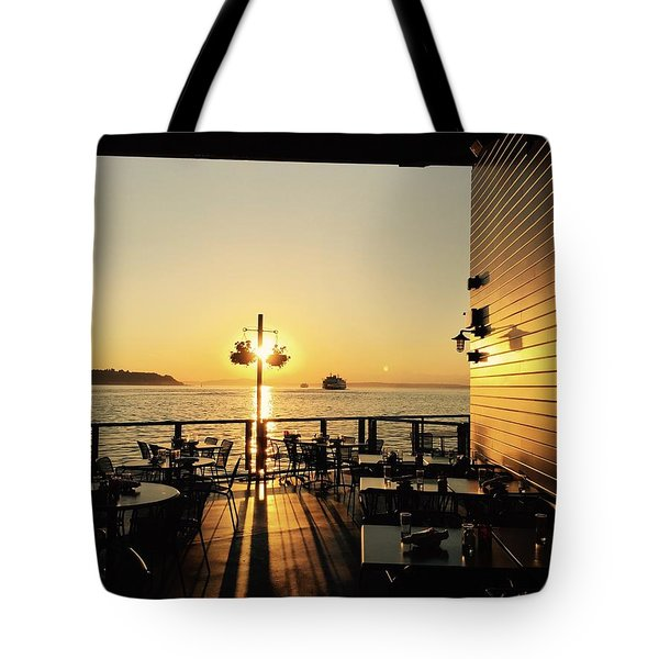 Dinner On The Water Tote Bag