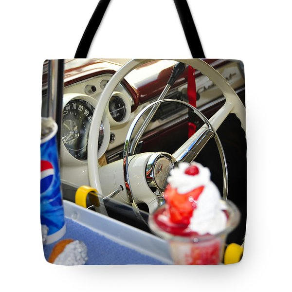 Dinning In The Fifties Tote Bag by David Lee Thompson