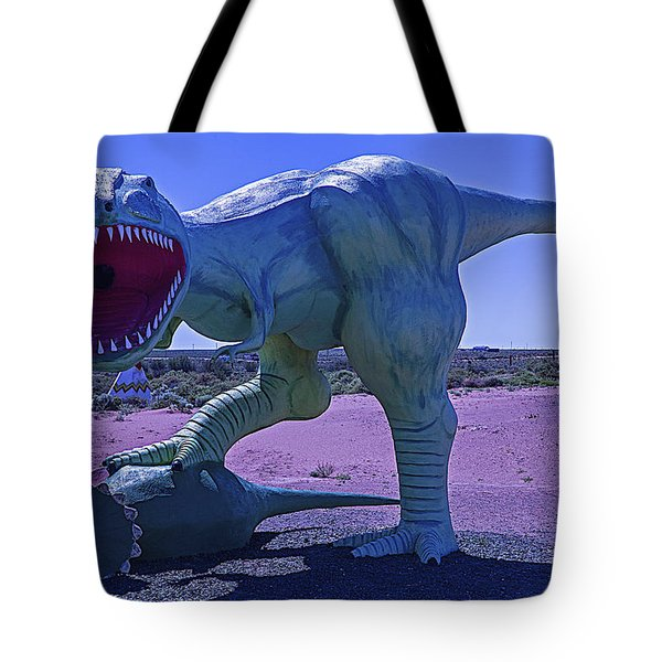 Dinosaur With Kill Tote Bag