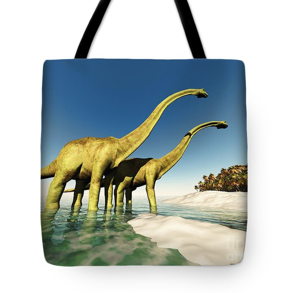 Dinosaur World Tote Bag by Corey Ford