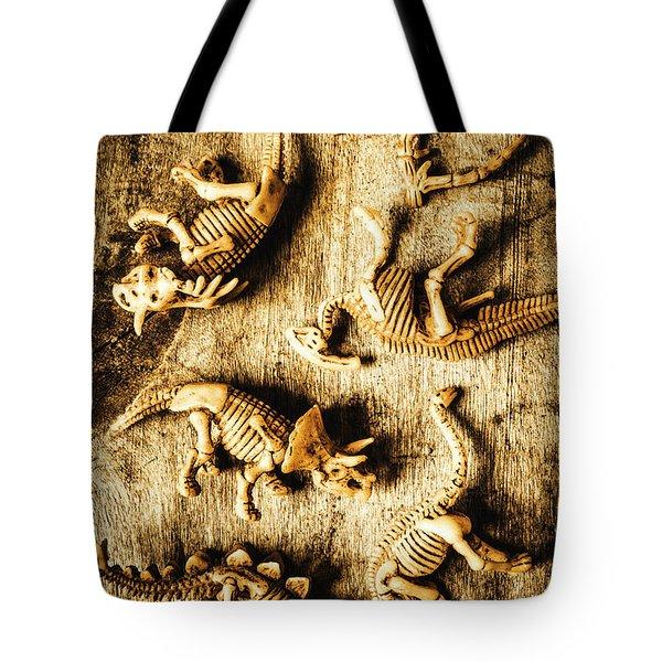 Dinosaurs In A Bone Display Tote Bag