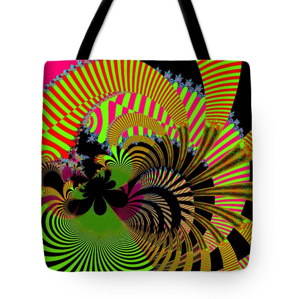 Tote Bag featuring the digital art Dintroutio by Andrew Kotlinski