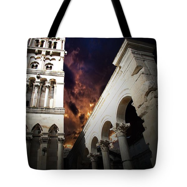 Tote Bag featuring the photograph Diocletian's Home by Danica Radman