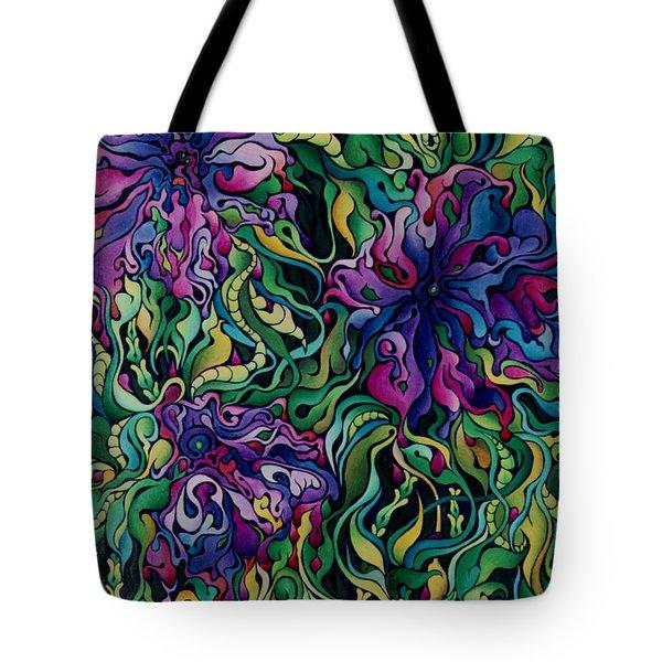 Dioxazine Disintegration Tote Bag