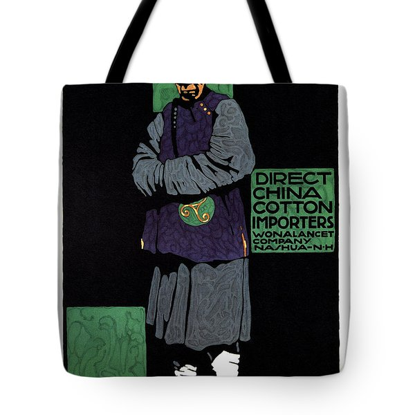 Direct China Cotton Importer - Wonalancet Company - Vintage Advertising Poster Tote Bag