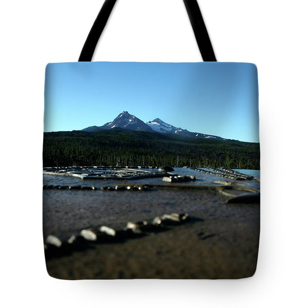 Tote Bag featuring the photograph Directional Points by Laddie Halupa