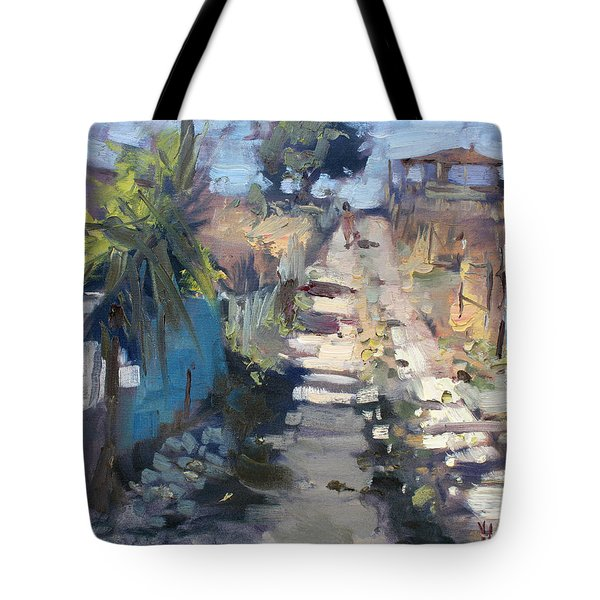 Dirt Road At Kostas Garden Tote Bag