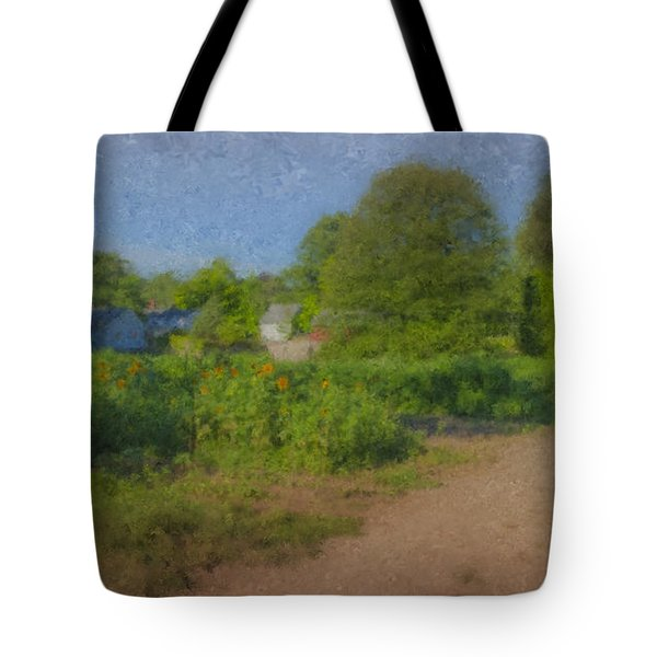 Dirt Road At Langwater Farm Tote Bag