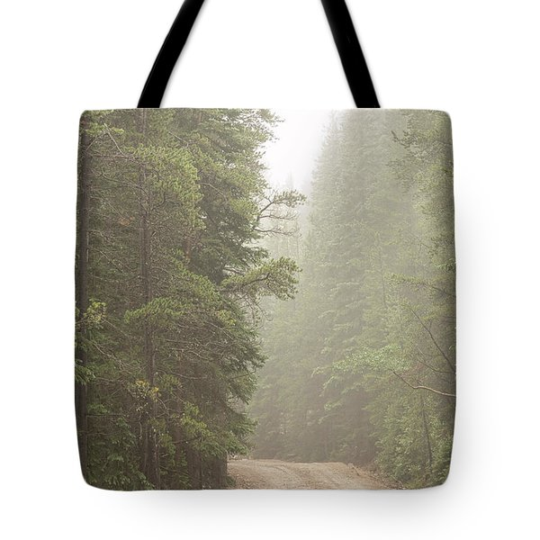 Tote Bag featuring the photograph Dirt Road Challenge Into The Mist by James BO Insogna