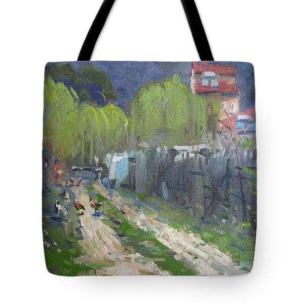 Dirt Road To Elida's Garden Tote Bag