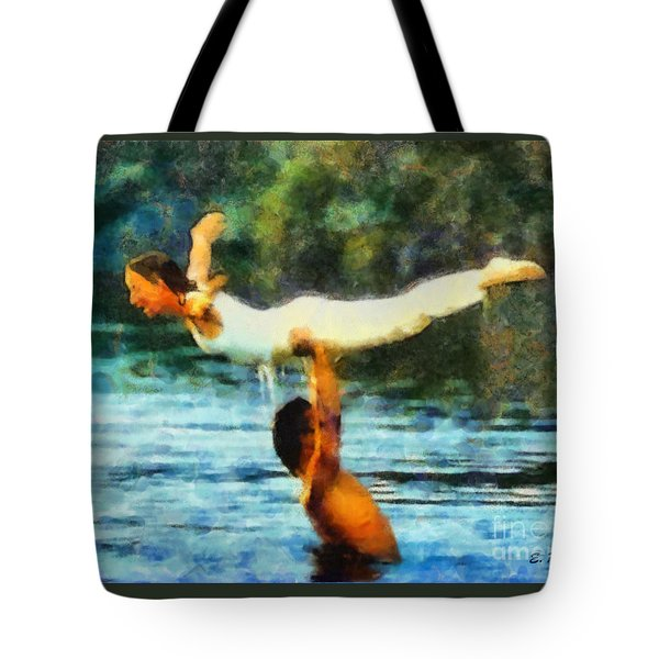 Tote Bag featuring the painting Dirty Dancing by Elizabeth Coats