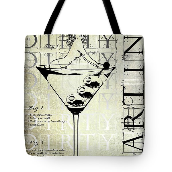 Dirty Dirty Martini Patent Tote Bag by Jon Neidert