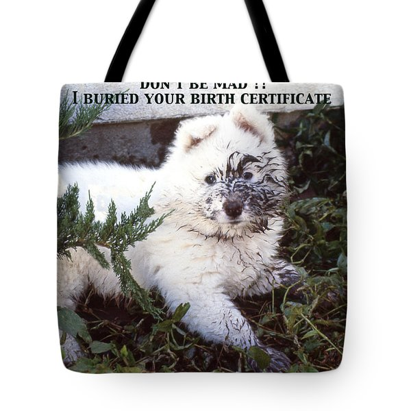 Dirty Dog Birthday Card Tote Bag